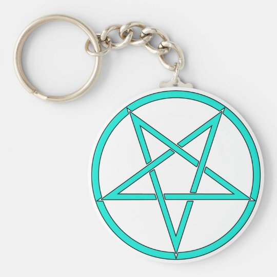 Star Pentagram Five 5 Pointed Symbol Classic Comic Keychain