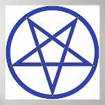 Star Pentagram Five 5 Pointed Symbol Classic Comic Print