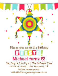 pinata invitations zazzle
