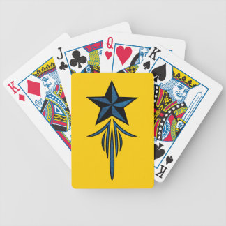 Star Pinstripe Bicycle Playing Cards