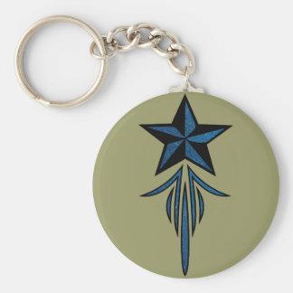 Star Pinstripe Keychain