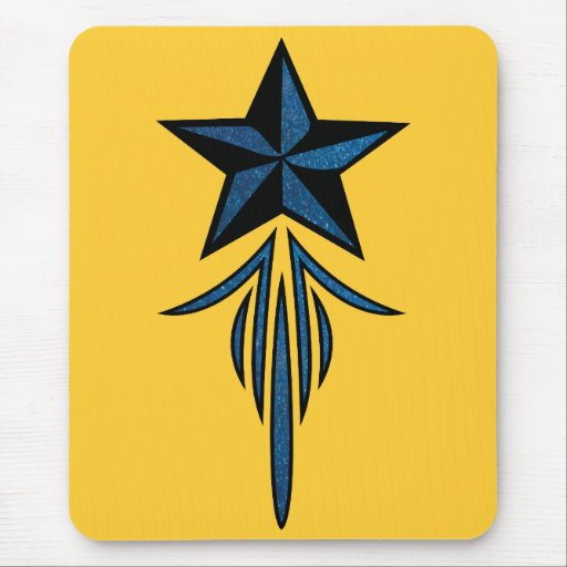 Star Pinstripe Mouse Pad