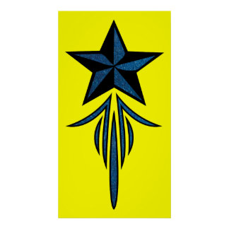 Star Pinstripe Poster