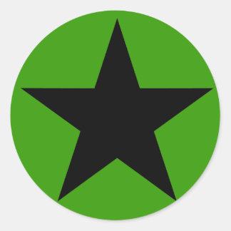 Star Power (Black) Classic Round Sticker