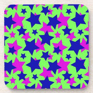 STAR POWER: BLUE & PURPLE PARADE on GREEN ~ Coaster