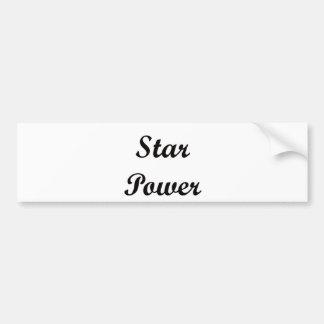 Star Power Bumper Sticker