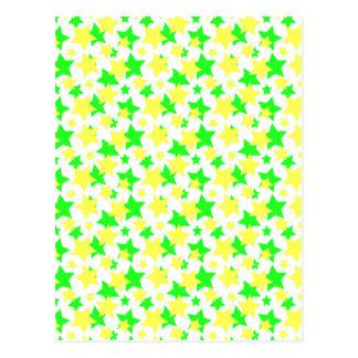 STAR POWER: GREEN & YELLOW PARADE! POSTCARD