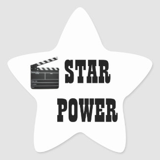 STAR POWER MOVIE CLAPBOARD SLATE STAR STICKER