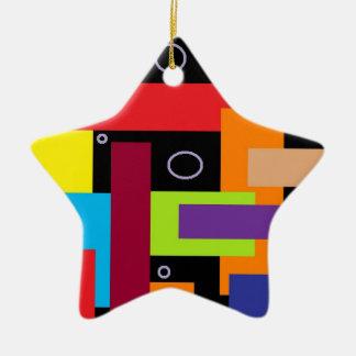 Star Power Double-Sided Star Ceramic Christmas Ornament