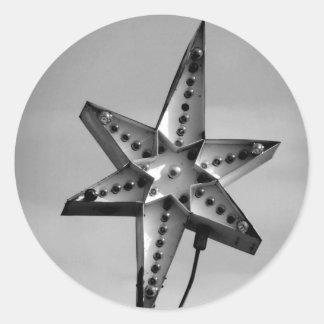Star Power Round Sticker