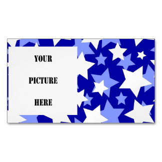 STAR POWER third movement! (blue and white) v.2 ~. Magnetic Business Card