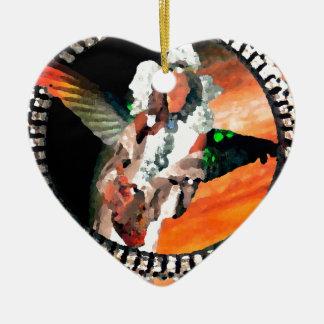 Star Princess and Tiger CricketDiane Fantasy Art Ceramic Ornament