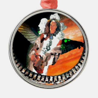 Star Princess and Tiger CricketDiane Fantasy Art Metal Ornament