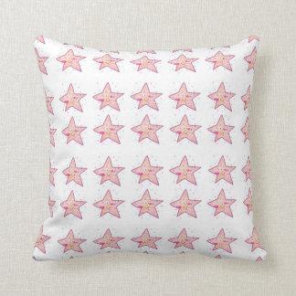 Star print throw pillow