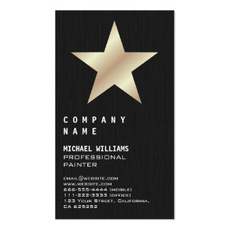 Star professional sea bream elegant Madera Black Double-Sided Standard Business Cards (Pack Of 100)