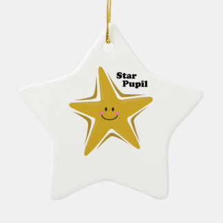Star Pupil Double-Sided Star Ceramic Christmas Ornament