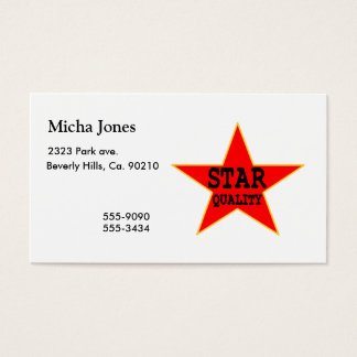 Star Quality Business Card