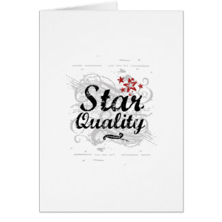 Star Quality Greeting Card