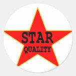 Star Quality Classic Round Sticker