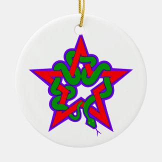 Star queue star snake ornaments