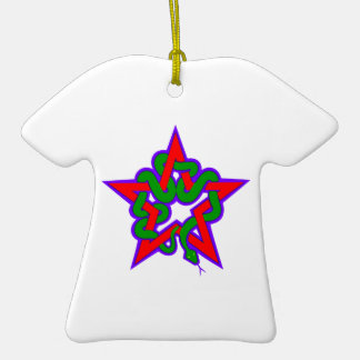 Star queue star snake christmas tree ornaments