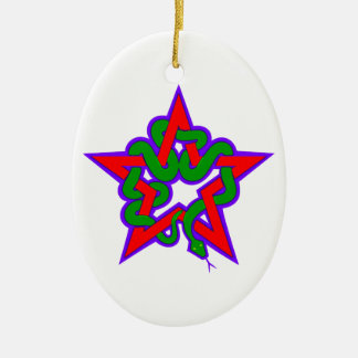 Star queue star snake ornament