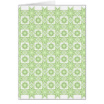 Star Quilt....Green Greeting Card