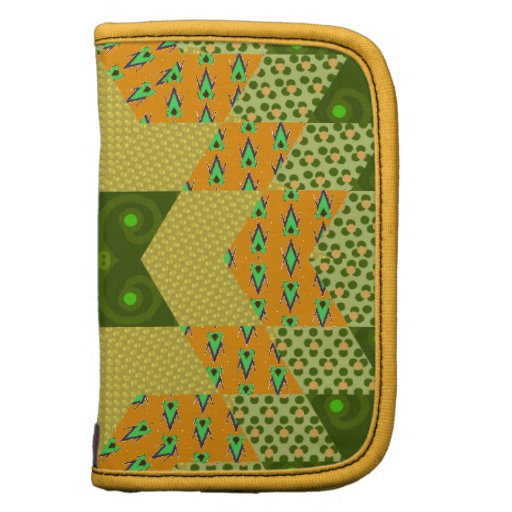 Star Quilt in Green and Yellow Organizers