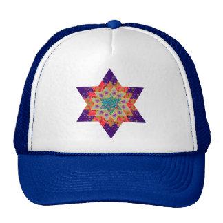 Star Quilt in Purple and Orange Trucker Hat