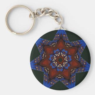 Star Quilt Key Chain
