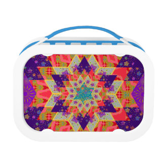 Star Quilt Pattern in Purple and Orange Replacement Plate