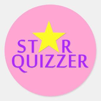 Star Quizzer Round Stickers