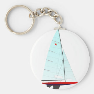 star  Racing Sailboat onedesign Olympic Class Keychain