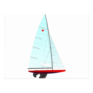 star  Racing Sailboat onedesign Olympic Class Postcard