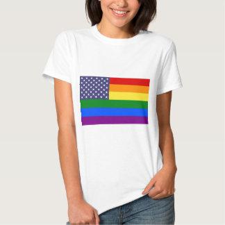 Star Rainbow American Flag T-Shirt