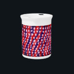 """Star red and blue beverage pitcher<br><div class=""""desc"""">Star red and blue</div>"""