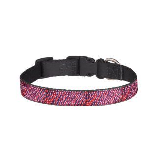 Star red and blue pet collar