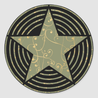 Star Rings Classic Round Sticker