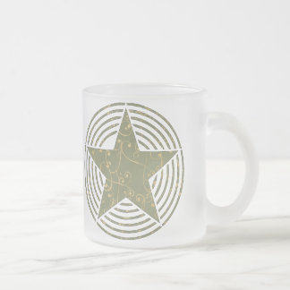 Star Rings Frosted Glass Coffee Mug