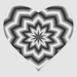 Star Ripples Heart Sticker