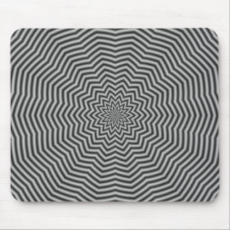 Star Ripples in Black and White Mouse Pad