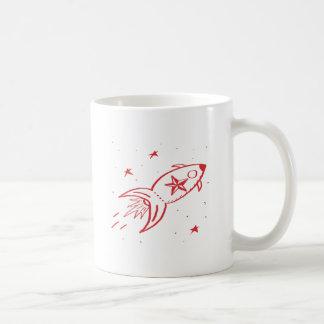 Star Rocketship Red no frame - Classic White Coffee Mug
