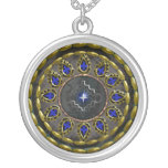 star round mourning necklace