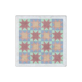 Star Sampler Quilt Stone Magnet