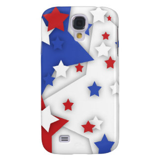 Star Shadow Bright Red White Blue Galaxy S4 Samsung Galaxy S4 Cover