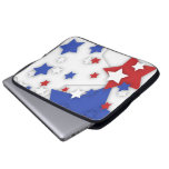 Star Shadow Bright Red White Blue Laptop  Bag Computer Sleeves