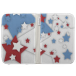 Star Shadow Red White Blue Kindle Case