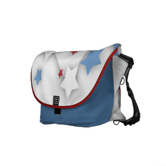 Star Shadow Red White & Blue Messenger Bag