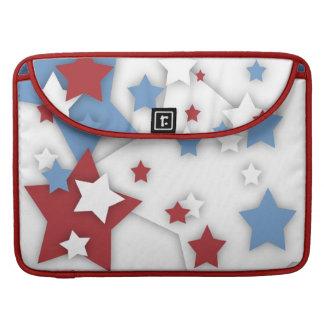 Star Shadow Red White & Blue Rickshaw Flap Sleeve MacBook Pro Sleeves