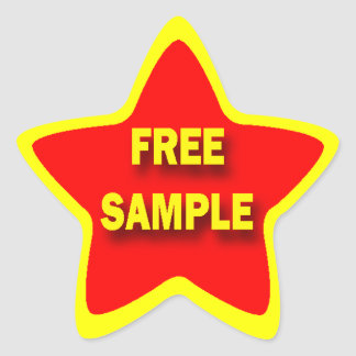 Star Shape FREE SAMPLE Retail Sticker